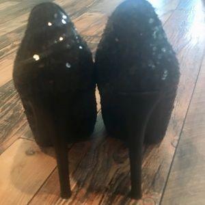 Shoe Dazzle Shoes - Sequined Heels
